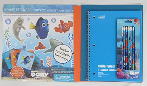 Finding Dory Giant Stickers and Pencils with Staples