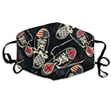 Unisex Fashion British and USA Flags Printed Cotton Mouth-Masks Face Mask Polyester Anti-dust Masks