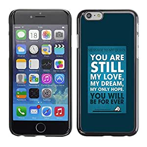 Qstar Arte & diseño plástico duro Fundas Cover Cubre Hard Case Cover para Apple (5.5 inches !!!) iPhone 6 Plus ( My Love Dream Blue Poster Text Inspiring)