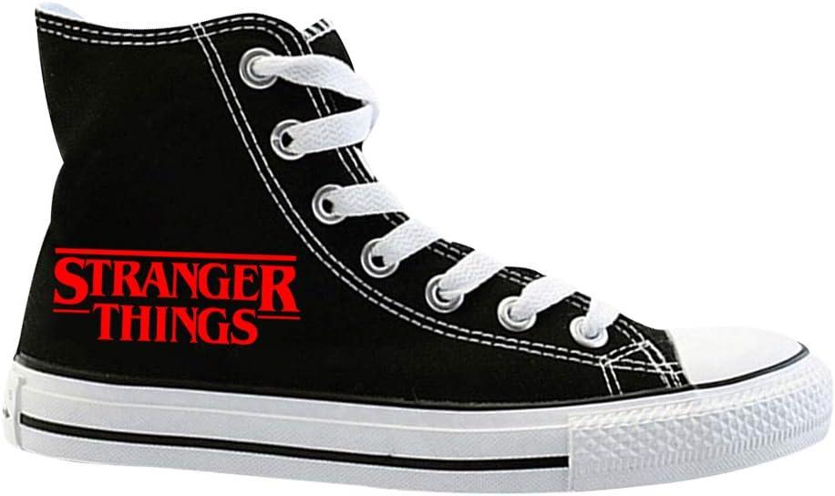 KIACIYA Stranger Things - Zapatillas para mujer, adolescentes, niña, temporada 3, Friends Dont Lie Eleven Demogorgon alto Canvas Chucks zapatos para hombre mujer Upside Down Zapatillas deportivas altas, G-11, 36: Amazon.es: Deportes