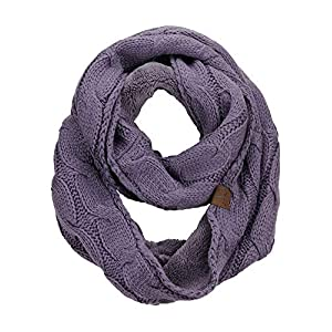 CC-Womens-Winter-Cable-Knit-Sherpa-Lined-Warm-Infinity-Pullover-Scarf