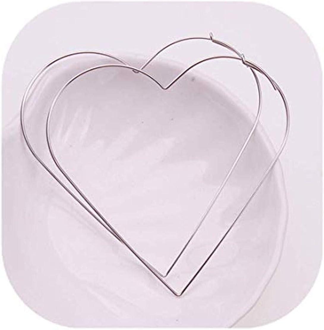 GYKMDF Pendientes de corazón, pendientes de estrella, pendientes exagerados, aretes de aro extragrandes.
