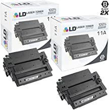 LD Compatible Replacements for Hewlett Packard Q6511A (11A) Set of 2 Black Toner Cartridges for LaserJet 2420, 2420d, 2420dn, 2420n, 2430, 2430dtn, 2430n and 2430tn
