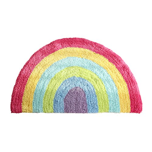 - Habudda Soft Cotton Cute Kids Nursery Door Mat Area Rugs Rainbow Door Mat Luxury Plush Kids Game Play Carpet Door Bath Rugs Baby Shower Gift 80CM50CM (Rainbow)
