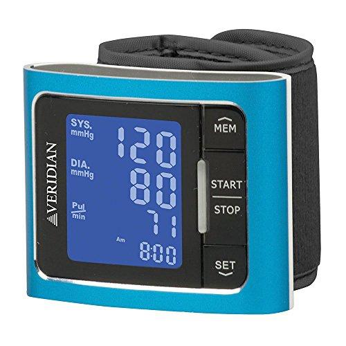 Veridian Wrist Blood Pressure Monitor, Blue, 1 ea