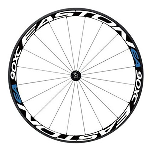 RuiyiF Bike Bicycle Wheel Rims Light Reflective Stickers Decal, Colorful Cycling Wheel Reflective Tape - White + Blue