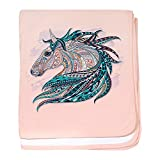 Royal Lion Baby Blanket Maverick Patterned Horse - Petal Pink
