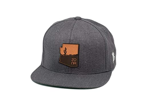 804a358494d Image Unavailable. Image not available for. Color: Branded Bills Arizona ' The Zona' Leather Patch Snapback hat ...
