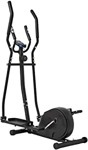 Tuuertge Elliptical Trainer Elliptical Machine Cross Trainer 2 in 1 Exercise Bike Cardio Fitness Home Gym Equipment for Small Rooms, Apartments Workout Machine (Color : Black, Size : 156x80x47cm)