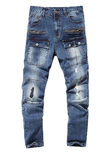 Zip Pocket Cargo Jeans - 6
