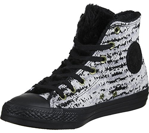 Converse Ctas blanc Hi Ctas Femme noir Knit Winter Knit Winter Fur rrRqxdv