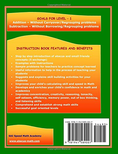 Abacus Mind Math Instruction Book Level 1: Step by Step Guide to ...