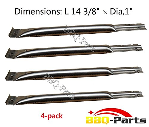 Hongso SBE491 (4-pack) Replacement BBQ Pipe Tube Gas Grill Burner for  Charmglow, Charmglo, Uniflame, Lowes Model Grills (14 3/8 by Hongso
