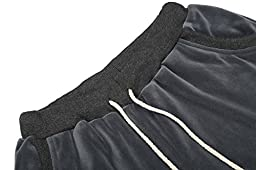 HOTOUCH Women\'s Solid Hooded Hoodie and Pants Sport Suits Tracksuits Charcoal L