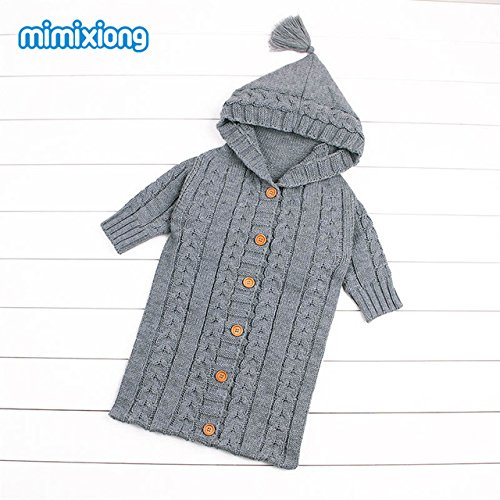 436f04a35e432 chaud Tricot bébé Sacs de couchage avec manchon à ressort au crochet pour  nouveau-né garçons filles Sacs de sommeil d hiver infantile Poussette  enveloppes ...
