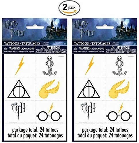 Harry Potter 24ct Temporary Tattoos - 2 Pack -