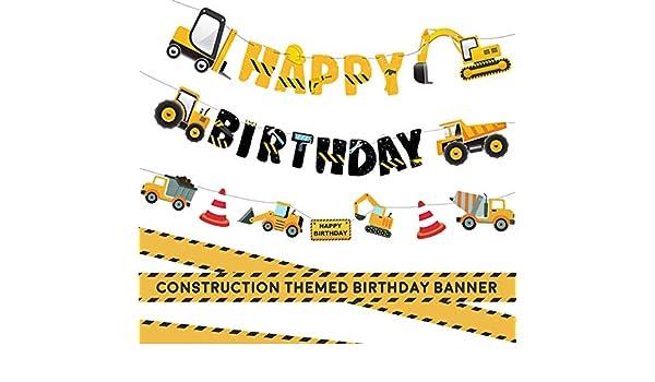 Guirnalda de 3 paquetes de construcción para feliz cumpleaños y ...