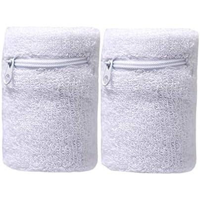 HARILEMINY PCS Wrist band Sweatband Athletic Cotton Terry Cloth Wristband For Sports Badminton Gym Football Black Estimated Price £2.19 -