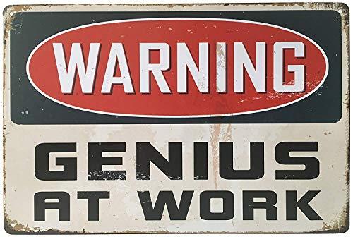 MARQUISE & LOREAN Placas y Chapas Decorativas Metálicas Decoración Pared Genius Carteles Vintage Metálicos Elígeme (Horizontal, 20 x 30 cm)