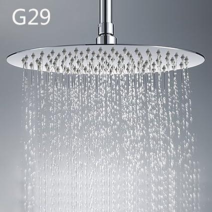 GAPPO Round Square Rainfall Shower Head Big Head Shower Rain Fall Shower  Faucet Overhead Shower GA14
