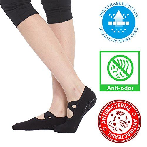 Yoga Socks for Women Non Skid Socks with Grips Barre Socks Pilates Socks for Women – DiZiSports Store