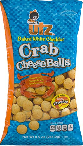 UTZ Baked White Cheddar Crab Cheeseballs 8.5 Ounces (3 Bags) - Crab Puff