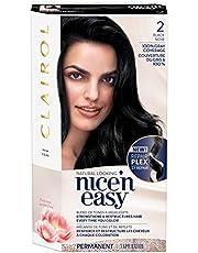 Clairol Nice'n Easy Permanent Hair Dye, 2 Black Hair Color, 1 Count