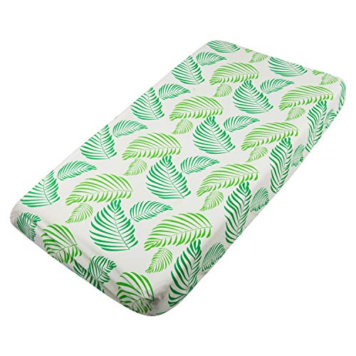 Green Changing Pad Cover - ALVABABY Changing Pad Cover,100% Organic Cotton,Large 32