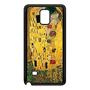 The Kiss by Gustav Klimt Black Silicon Rubber Case for Galaxy Note 4 by Painting Masterpieces + FREE Crystal Clear Screen Protector