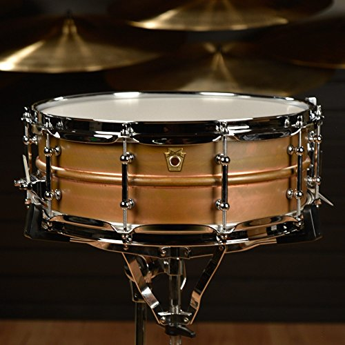 Ludwig Copper Phonic Smooth Snare Drum 14 x 5 in. Raw Smooth Finish with Tube Lugs by Ludwig