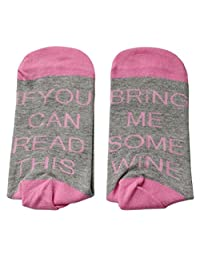Funny Socks,Aniwon Unisex Casual Cotton Socks If You Can Read This Socks Funny Gifts for Men and Women
