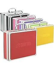 Aluminium koffer box in verschillende kleuren met schuimvulling rood