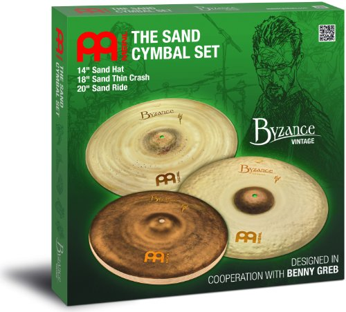 (Meinl Byzance Vintage Series Benny Greb Sand Cymbal Set 14, 18, and 20)
