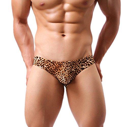 iooico Men's Underwear , Leopard Print G-Strings & - Leopard Print Thong Men