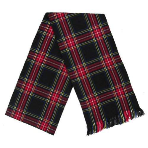 (Ladies Black Stewart Tartan/Plaid Sash - 10.5 x 90 Inches)