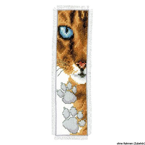 Vervaco Bookmark Cat Footprint Cross Stitch Kit