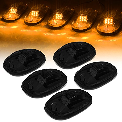 For Dodge Ram 1500-5500 5 X Smoke Lens LED Cab Roof Top Marker Running Clearance Light Lamps Truck