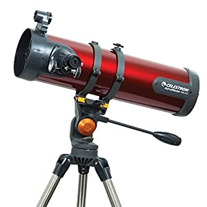 Celestron AstroMaster Quick and easy no-tool setup Reflecting Telescope, Red (31055)