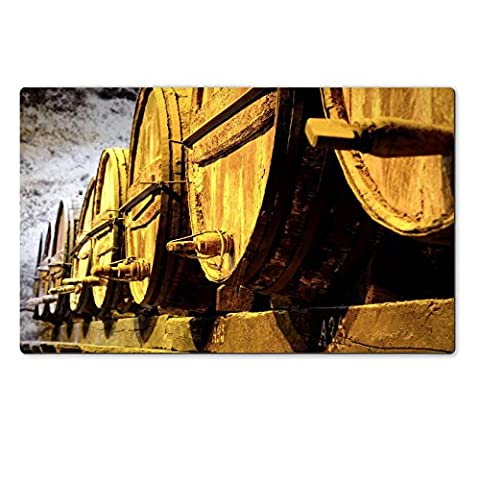 Liili natural rubber Large Table Mat IMAGE ID 32520953 Details of very old wine barrels - Rioja Wine Cellar