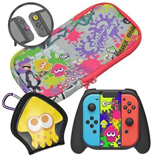 HORI Splatoon 2 Deluxe Splat Pack with Squid Trigger Grip Officially Licensed - Nintendo Switch (Trigger Pack)