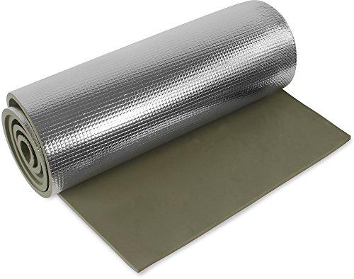 Ultraleichte Isomatte mit Aluminiumbeschichtung / Alu-Thermomatte Farbe Oliv