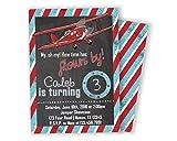 Vintage Airplane Invitations Boy Birthday 1st 2nd 3rd 4th Chalk