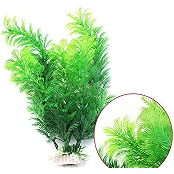Oksale® Aquarium Decorative Plastic Fish Tank Simulation Aquatic Plant Artificial Creature Decoration Ornament Decor Landscape 11.8 Inches