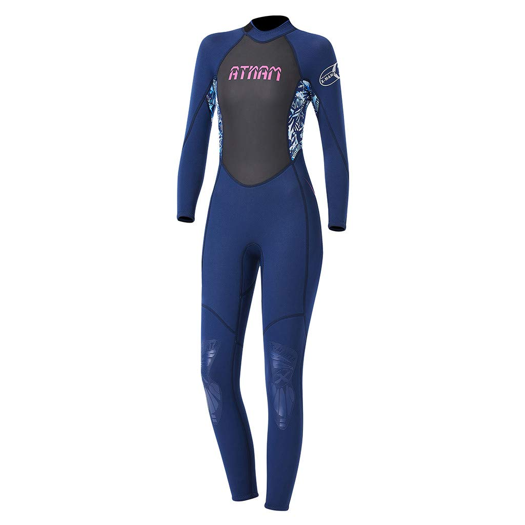 LUXISDE Women's Keep Warm Sunscreen Swimming,Surfing and Snorkeling Diving Coverall Suit Blue by LUXISDE (Image #9)