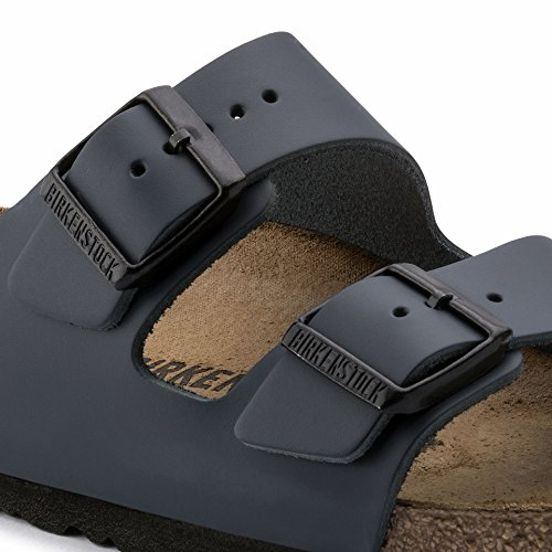 Birkenstock Women's Classic Cork Footbed Arizona 2-Strap Sandal In Natural Leather, Smooth Black Natural Leather' (37 M EU/6-6.5 B(M) US Women) by Birkenstock (Image #1)