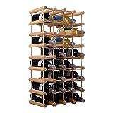 40 Bottle Wood Wine Rack Bottle Holder Storage Kitchen Display Solid Construction New Natural #522