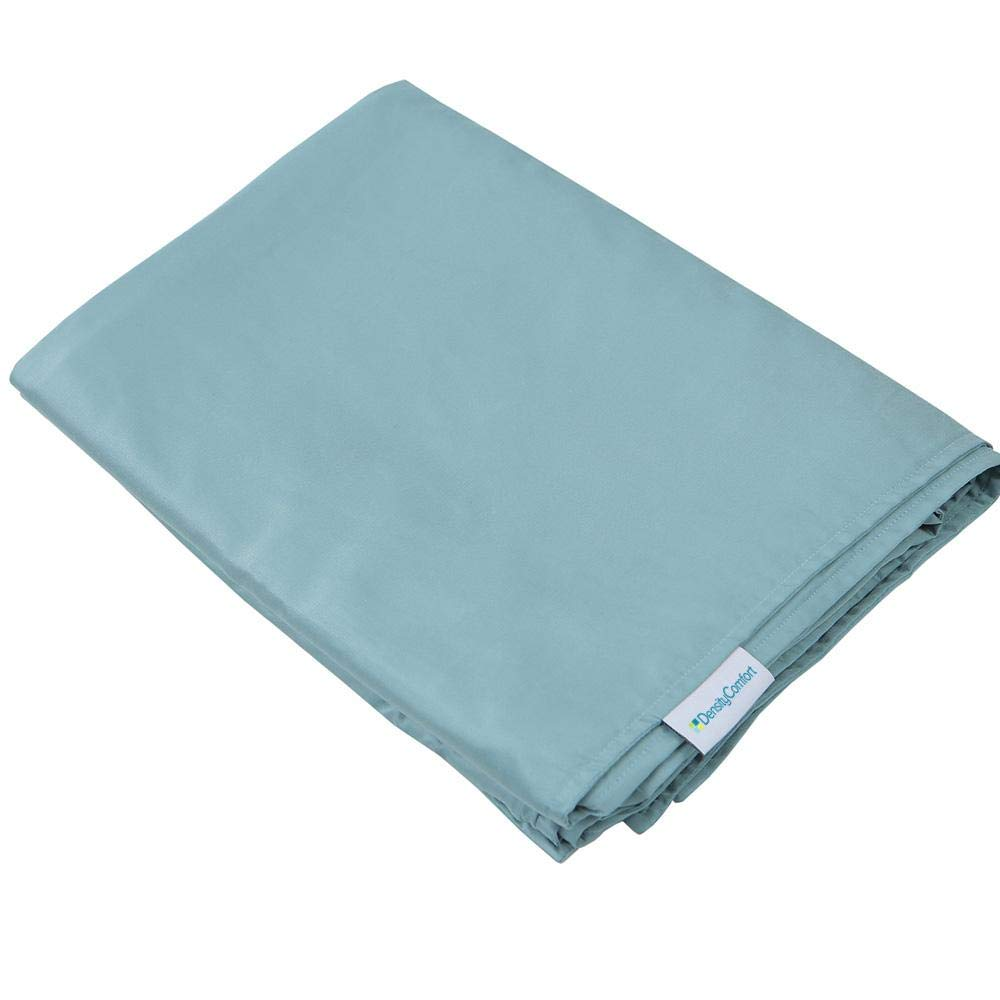 DensityComfort Duvet Cover for Weighted Blanket | Adult 48x72 | Cooling Bamboo | Mint Blue | Machine Washable