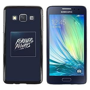 Paccase / SLIM PC / Aliminium Casa Carcasa Funda Case Cover - Forever Always Gold Blue Baywatch - Samsung Galaxy A3 SM-A300