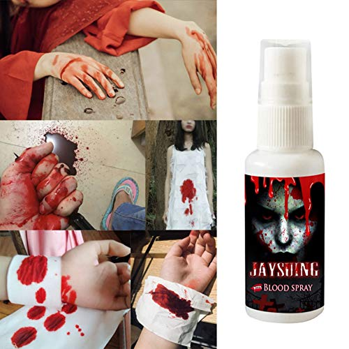 ETOSELL Realistic Fake Blood Spray Scary Halloween Make Up Splatter Blood Party Favors Decoration Accessories 30ML/1 Fl.oz Bottle]()