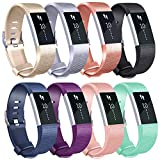 Tobfit Compatible for Fitbit Charge 2 Bands, Sport Replacement Bands Compatible for Fitbit Charge 2 Wristbands, Small/Large